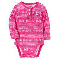 Baby Girl Carter's Fairisle Bodysuit