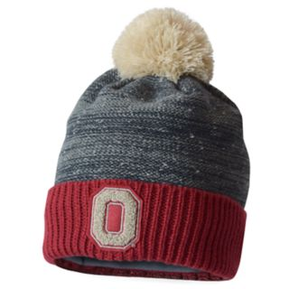 Adult Ohio State Buckeyes Nothing To Fear Retro Cuffed Pom Beanie