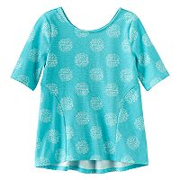 Girls 4-10 Jumping Beans® Print Pieced Elbow-Sleeve Tunic