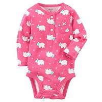 Baby Girl Carter's Polar Bear Graphic Bodysuit