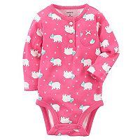 Baby Girl Carter's Polar Bear Graphic Bodysuit