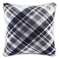 Cuddl Duds Blue Plaid Oversized Throw Pillow