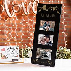 Cathy's Concepts Black 'Our Love Story' 3-Opening 5.5' x 3.5' Collage Frame