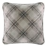 Cuddl Duds Gray Plaid Oversized Throw Pillow