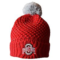 Adult Ohio State Buckeyes Defend 'Til The End Cuffed Knit Pom Beanie