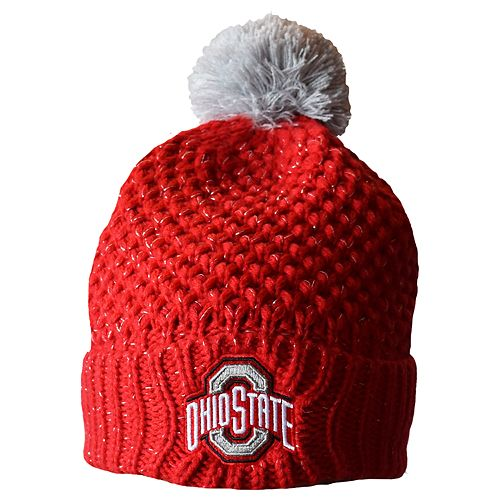 best website ebc36 5ce65 Adult Ohio State Buckeyes Defend  Til The End Cuffed Knit Pom Beanie