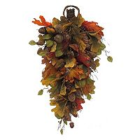 Celebrate Fall Together Artificial Leaves Wall Decor