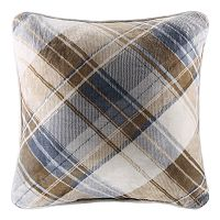 Cuddl Duds Blue & Tan Plaid Oversized Throw Pillow