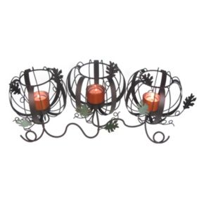 Celebrate Fall Together 3-Tier Pumpkin Tealight Candle Holder