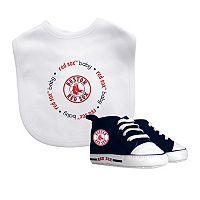 Baby Fanatic Boston Red Sox Bib and Pre-walker Set