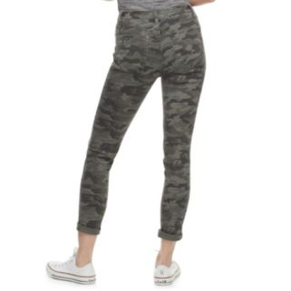 Juniors' Mudd® Ripped Camo Cuffed Skinny Jeans