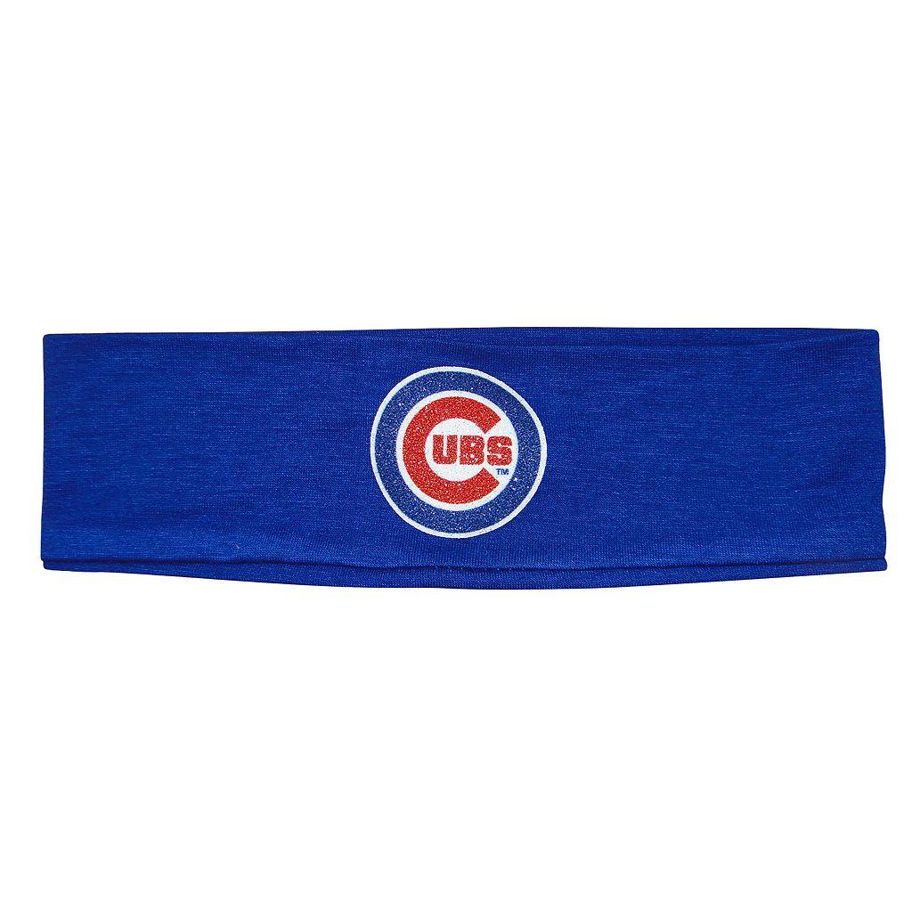 Girls 7-16 Chicago Cubs Glitter Logo Headband