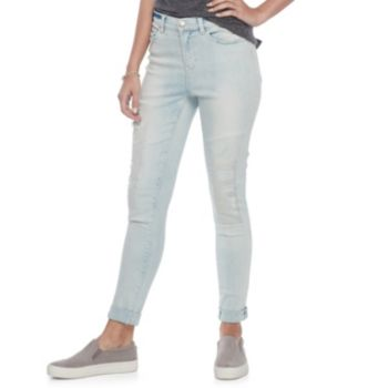 Juniors' Mudd® Distressed Ankle Skinny Jeans
