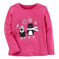 Baby Girl Carter's Skating Penguins Tee