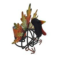 Celebrate Fall Together Metal Turkey Tealight Candle Holder