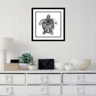 Amanti Art Goodbye Sea Turtle Framed Wall Art