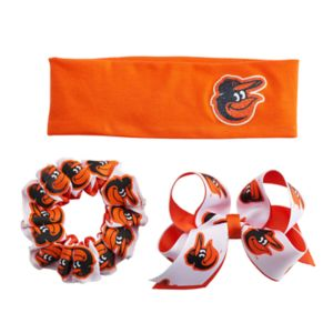 Baltimore Orioles 3-Pack Hair Accessory Set