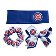 Chicago Cubs 3-Pack Hair Accessory Set