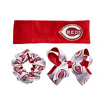 Cincinnati Reds 3-Pack Hair Accessory Set
