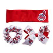 Cleveland Indians 3-Pack Hair Accessory Set