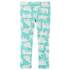 Baby Girl Carter's Fleece-Lined Polar Bear Print Leggings