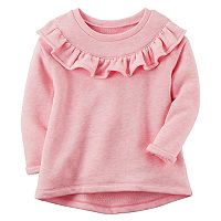 Baby Girl Carter's Ruffled French Terry Sweater