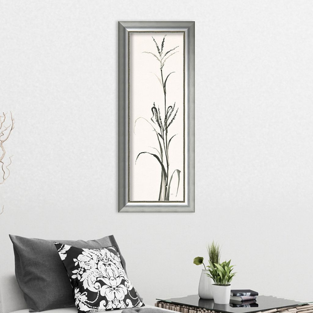 Amanti Art Gray Grasses IV Framed Wall Art