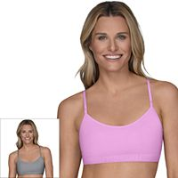 Fruit of the Loom Bras: 2-pack Breathable Cotton-Blend Bralette 2DBCBRA