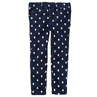 Baby Girl Carter's Owl Print Twill Pull-On Pants