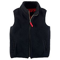 Toddler Boy Carter's Black Sherpa Vest