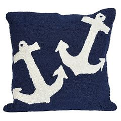 Trans Ocean Imports Liora Manne Anchor Indoor Outdoor Throw Pillow