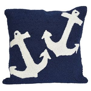 Trans Ocean Imports Liora Manne Anchor Indoor Outdoor Throw Pillow\n
