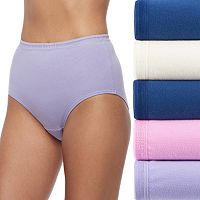 Fruit of the Loom 5-pack Breathable Cotton-Blend Brief Panty 5DBCBRS
