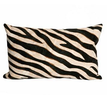 Trans Ocean Imports Liora Manne Zebra Indoor Outdoor Throw Pillow