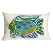 Trans Ocean Imports Liora Manne Batik Fish Indoor Outdoor Throw Pillow