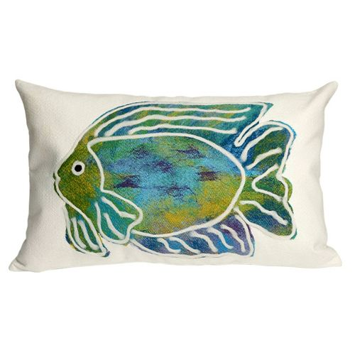 Trans Ocean Imports Liora Manne Batik Fish Indoor Outdoor Throw Pillow