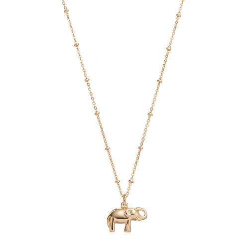 LC Lauren Conrad Elephant Pendant Necklace