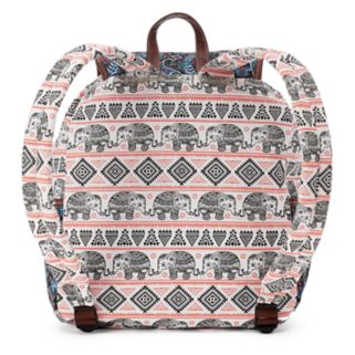 Unionbay Tribal Elephant Applique Drawstring Backpack