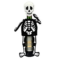 Celebrate Halloween Together Skeleton Wine Cover
