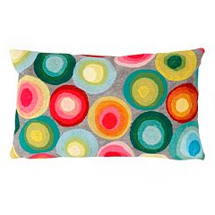 Trans Ocean Imports Liora Manne Puddle Dot Indoor Outdoor Throw Pillow
