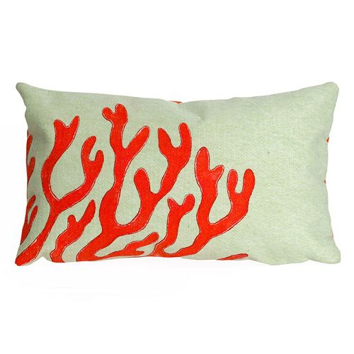 Trans Ocean Imports Liora Manne Coral Indoor Outdoor Throw Pillow