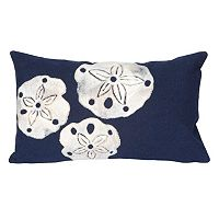Trans Ocean Imports Liora Manne Sand Dollar Indoor Outdoor Throw Pillow