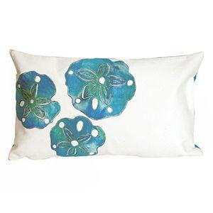 Trans Ocean Imports Liora Manne Sand Dollar Indoor Outdoor Throw Pillow\n