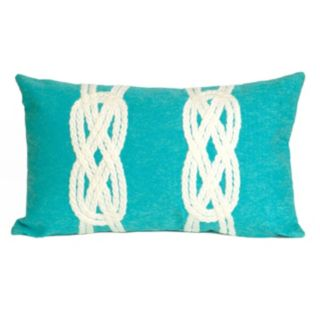 Trans Ocean Imports Liora Manne Double Knot Indoor Outdoor Throw Pillow