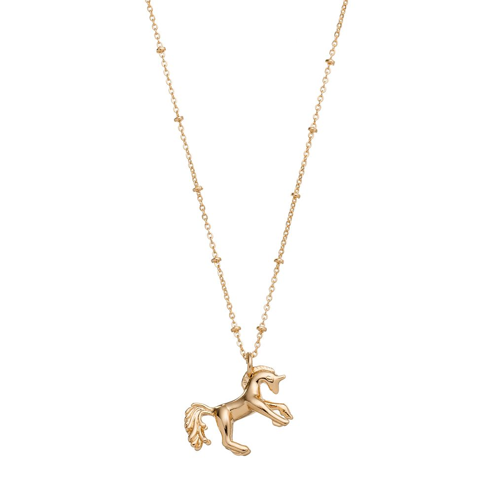 unicorn pendant context gold plated rose large silver beaverbrooks p the