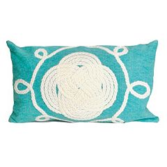 Trans Ocean Imports Liora Manne Ornamental Knot Indoor Outdoor Throw Pillow