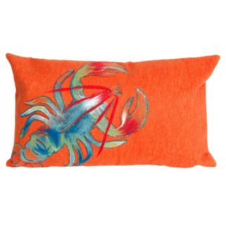 Trans Ocean Imports Liora Manne Lobster Indoor Outdoor Throw Pillow
