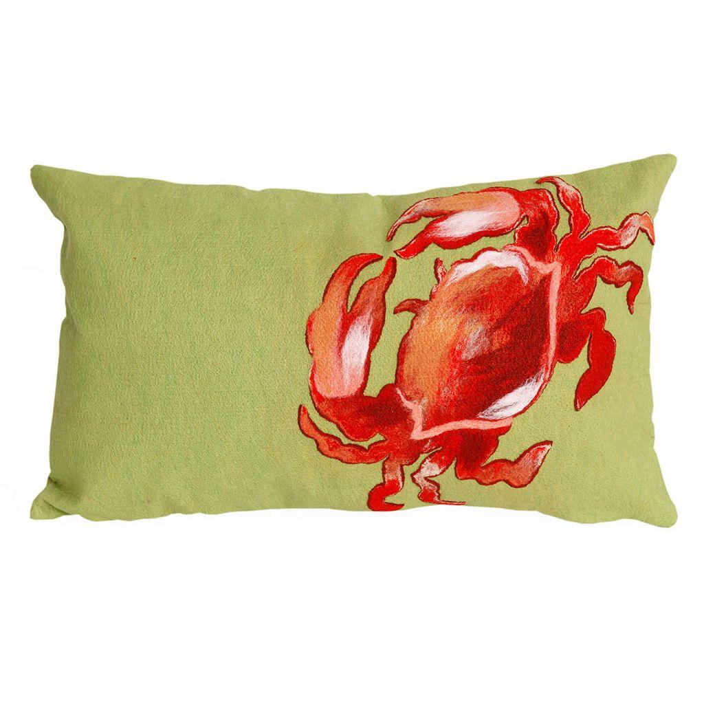 Trans Ocean Imports Liora Manne Crab Indoor Outdoor Throw Pillow