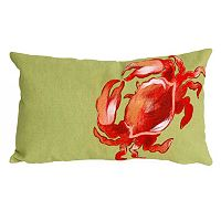 Trans Ocean Imports Liora Manne Crab Indoor Outdoor Throw Pillow