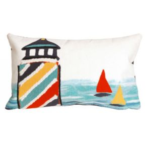 Trans Ocean Imports Liora Manne Lighthouse Indoor Outdoor Throw Pillow